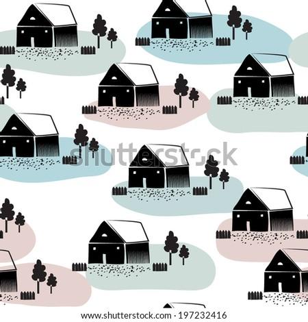 Scandinavian Illustration Style Scandinavian Style Stock