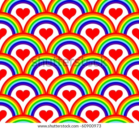 vector illustration of a seamless rainbow pattern - stock vector
