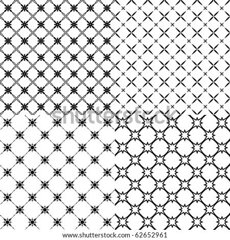Vector illustration of a set of abstract patterns. - stock vector