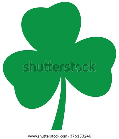 vector illustration of a shamrock icon St. Patrick day