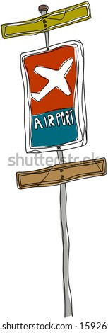 Vector illustration of a signpost