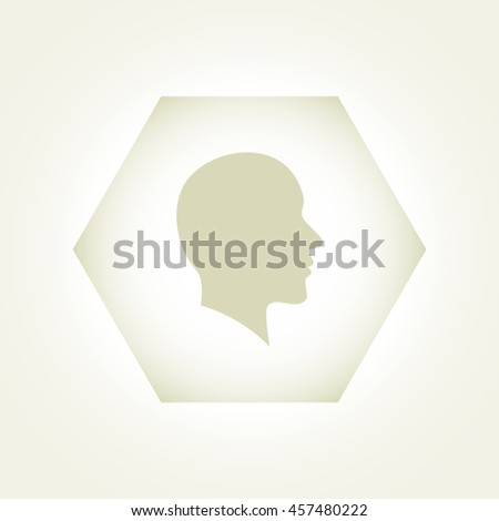 Vector illustration of a silhouette head