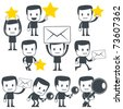Vector illustration of a simple cute characters for use in presentations, manuals, design, etc. - stock photo