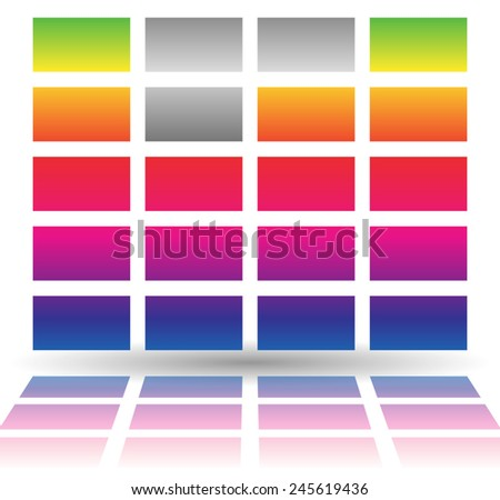 Vector illustration of a simple EQ, equalizer graphics. Eps 10 vector. - stock vector