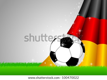 Vector illustration of a soccer ball with Germany insignia