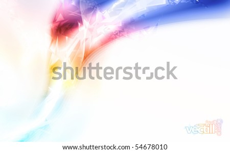 Vector illustration of a soft futuristic lined art design falling apart and decomposing into pieces. - stock vector
