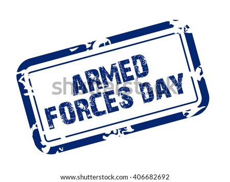 Vector illustration of a Stamp for Armed Forces Day.