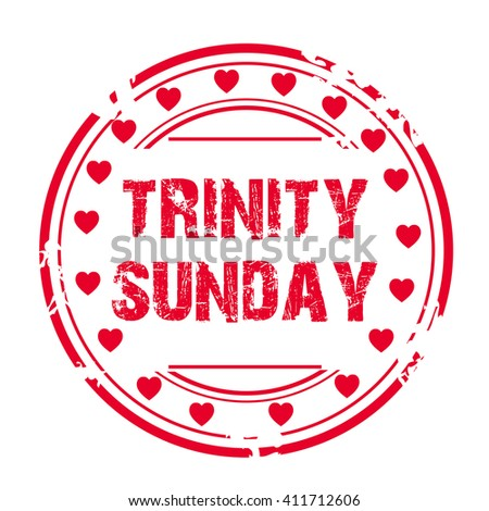 Vector illustration of a Stamp for Trinity Sunday.