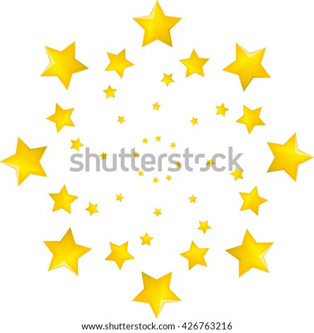 Vector illustration of a star set - stock vector