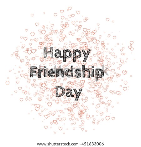 Vector illustration of a stylish for Happy Friendship Day - stock vector