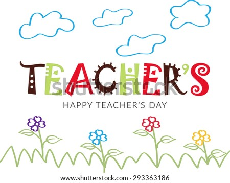 Vector illustration of a stylish shiny for Happy Teacher's Day.