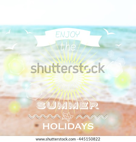 Vector Illustration of a Summer Background - stock vector