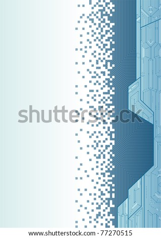 Vector illustration of a technical draft background. Can be easily colored and used in your design. - stock vector