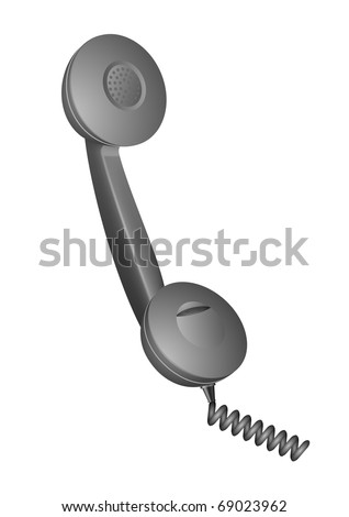 vector illustration of a telephone receiver - stock vector