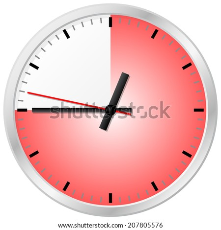 vector illustration of a timer with 45 (forty-five) minutes - stock vector