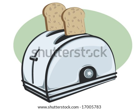 vector illustration of a toaster - stock vector