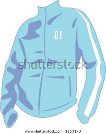 vector illustration of a track jacket/sweater
