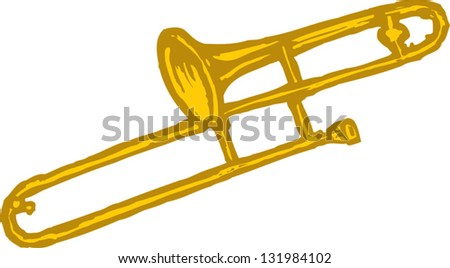 Vector illustration of a trombone