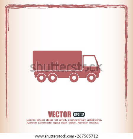 Vector illustration of a truck  - stock vector