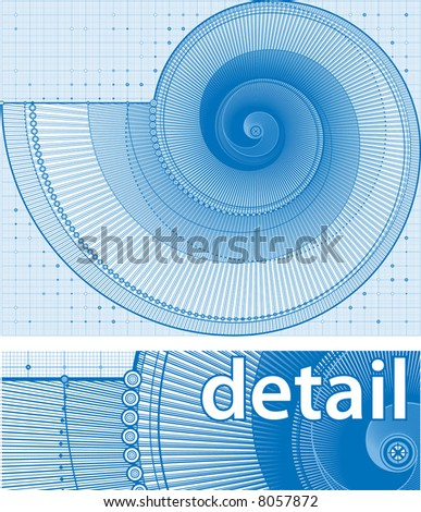 vector illustration of a twirl background in a draft style - stock vector