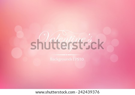 Vector Illustration of a Valentines Day Backgrounds and typography design. - stock vector