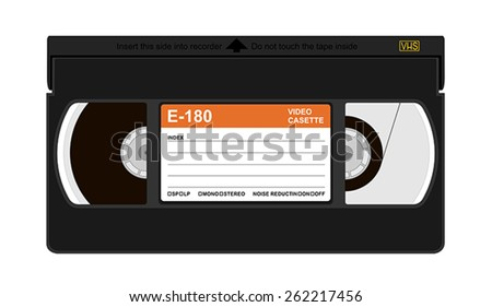Vector illustration of a VHS cassette - stock vector