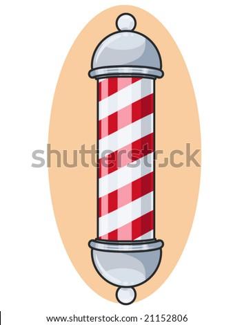 Vector Illustration Of A Vintage Barber Pole Sign