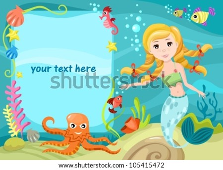 vector illustration of a water life