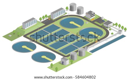 Water treatment plant stock images royalty free images - Swimming pool water treatment plant ...