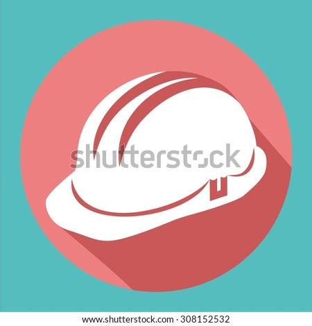 Vector illustration of a web icons building - safety helmet, hard hat - stock vector