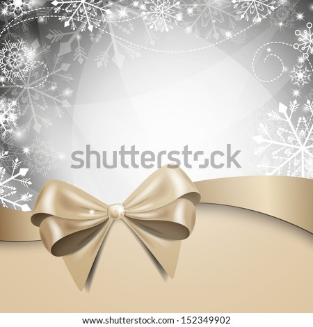 Vector Illustration of a Winter Background with Snowflakes - stock vector