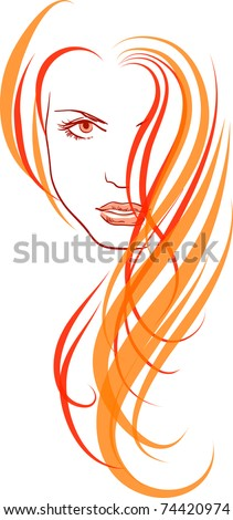 Vector illustration of a young girl - stock vector