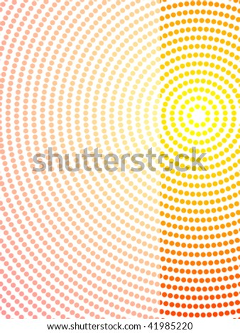 vector illustration of abstract aboriginal dot art layout