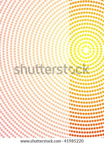 vector illustration of abstract aboriginal dot art layout - stock vector