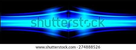 Vector illustration of abstract background with blurred magic neon blue light rays. infographics. technology  background for computer graphic website internet business.  - stock vector