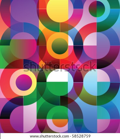 Vector illustration of abstract background with circles - stock vector
