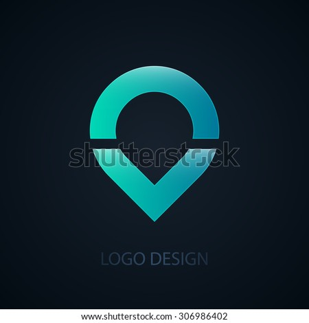 Vector illustration of abstract business logo water. - stock vector