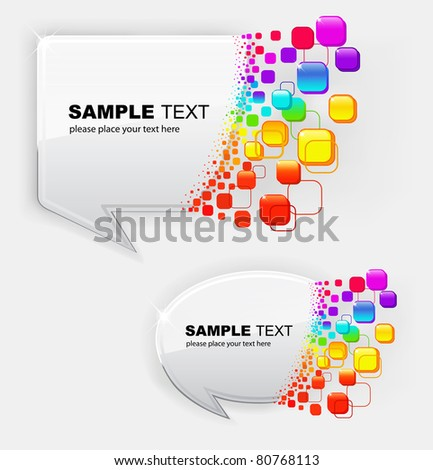 Vector illustration of abstract colorful bubbles speech - stock vector
