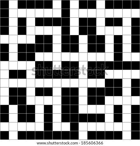 Vector illustration of abstract Crossword Puzzle pattern.