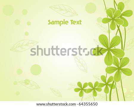 vector illustration of abstract green natural pattern background - stock vector
