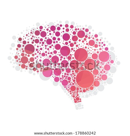 vector illustration of abstract human brain - stock vector
