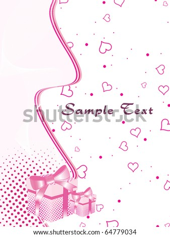 vector illustration of abstract love background - stock vector