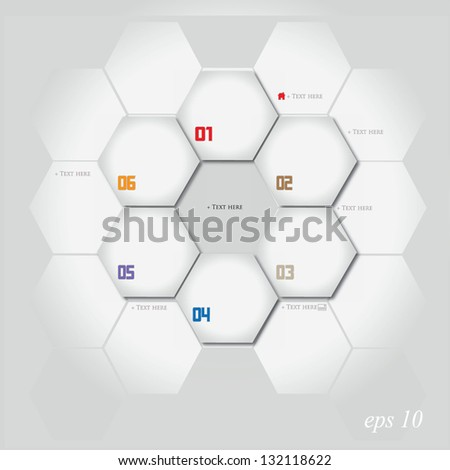 Vector illustration of Abstract Paper Infographics - stock vector