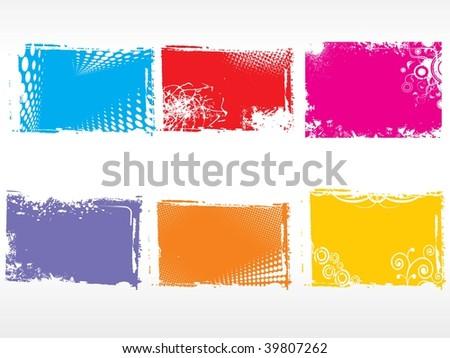 vector illustration of abstract pattern frames - stock vector