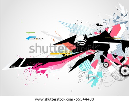 Vector illustration of abstract styled Decorative urban background - stock vector