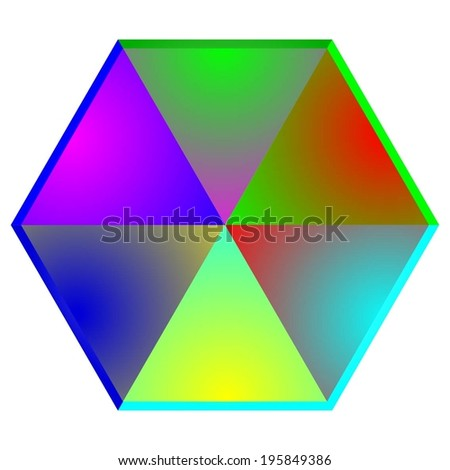 Vector illustration of Abstraction, cristal