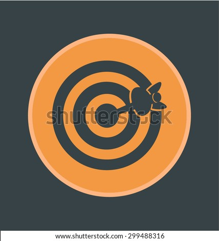 Vector illustration of accuracy icon, flat round icon - stock vector