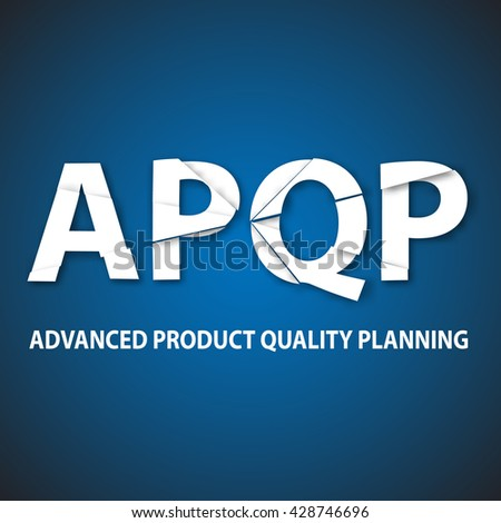 Vector illustration of advanced product quality planning framework. APQP strategy vector background.