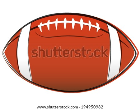 Vector illustration of american football ball drawing on white background - stock vector