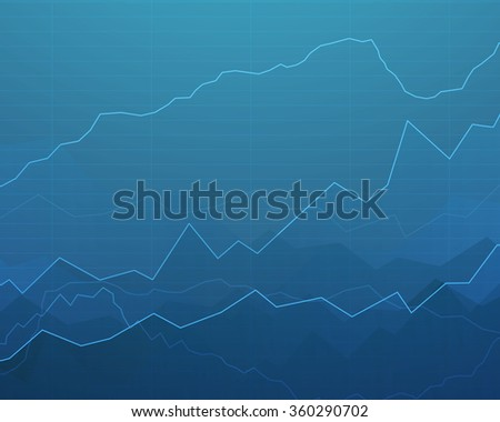 Vector Illustration of an Abstract Background with Graphs - stock vector